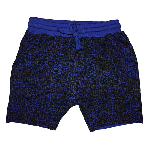 Alligator Print Harem Short in Electric - Ice Cream Castles Kids