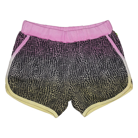 Tie Dye Alligator Print Running Short in Lilac - Ice Cream Castles Kids