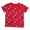 Race Car Dolphin Repeat Print Short Sleeve Tee in Red - Ice Cream Castles