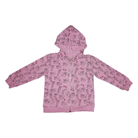 Neon Unicorn Repeat Print Zip Hoodie in Tutu - Ice Cream Castles Kids