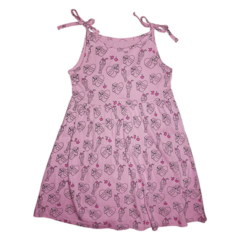 Neon Unicorn Repeat Print Tie Top Dress in Tutu - Ice Cream Castles Kids