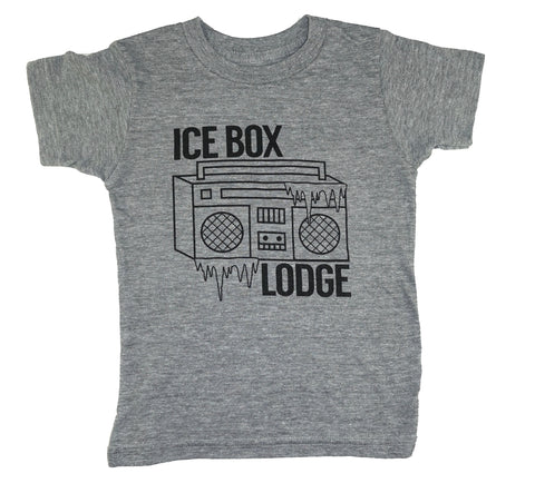 Ice Box Lodge Tee- Grey - Ice Cream Castles