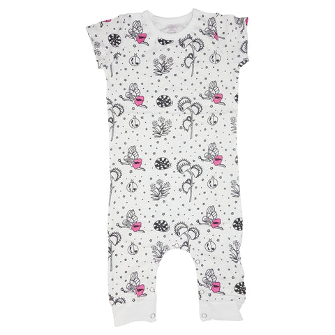 Garden Fairy Romper- White - Ice Cream Castles