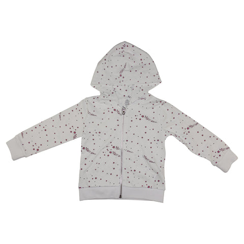 Star Print Hoodie- White - Ice Cream Castles