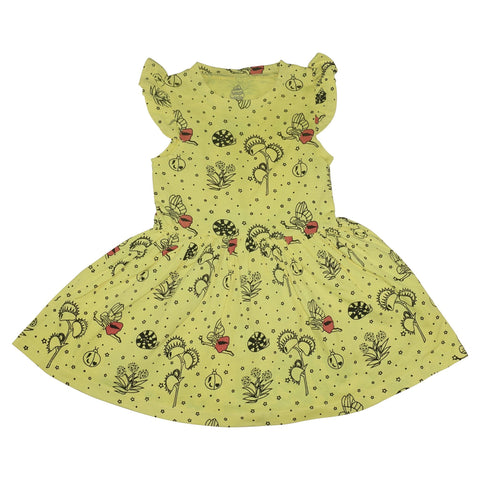 Garden Fairy Ruffle Dress- Yellow - Ice Cream Castles