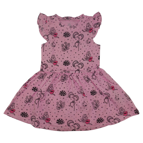 Garden Fairy Ruffle Dress- Pink - Ice Cream Castles Kids