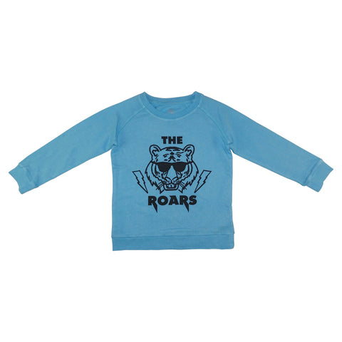 The Roars Graphic Pullover- Bright Blue - Ice Cream Castles