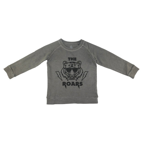 The Roars Graphic Pullover- Gray - Ice Cream Castles