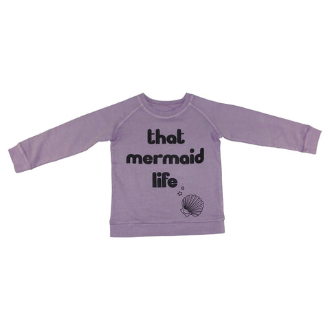 That Mermaid Life Graphic Pullover- Lavender - Ice Cream Castles