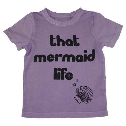 That Mermaid Life Graphic Tee- Lavender - Ice Cream Castles