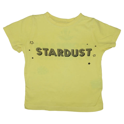 Stardust Graphic Tee- Yellow - Ice Cream Castles Kids