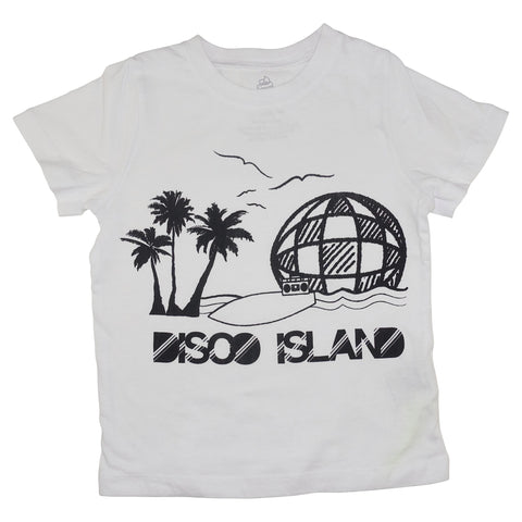 Disco Island Graphic Tee- White