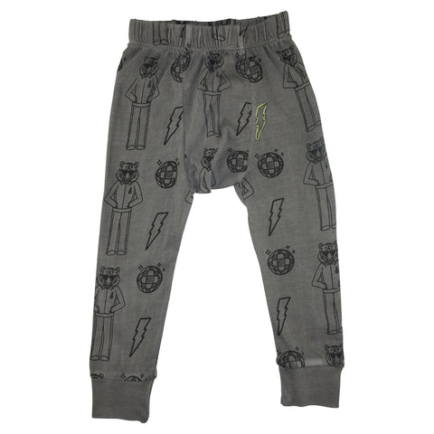 Tiger Disco Print Leggings- Gray - Ice Cream Castles Kids