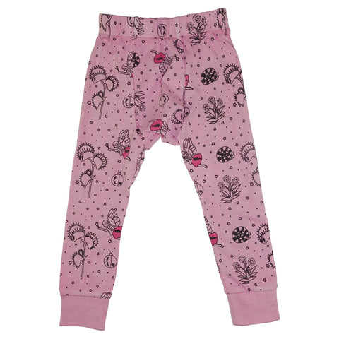 Garden Fairy Leggings- Pink - Ice Cream Castles Kids
