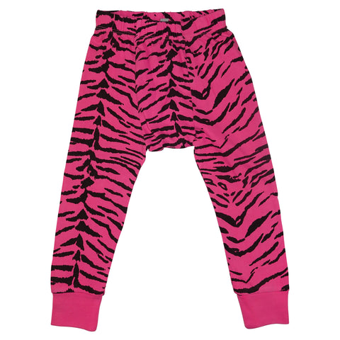 Tiger Stripe Leggings- Neon Pink
