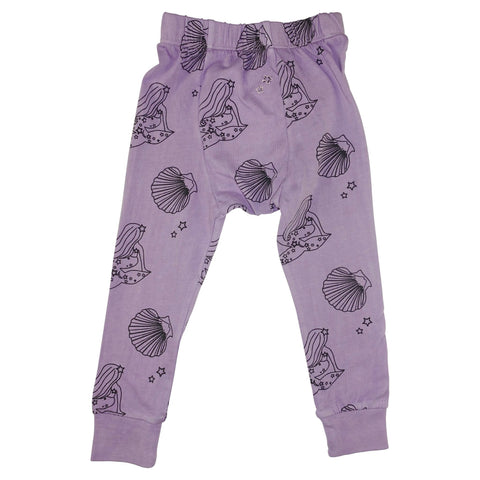Mermaid Repeat Print Leggings- Lavender - Ice Cream Castles