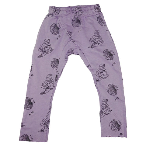 Mermaid Repeat Print Harem Pant- Lavender