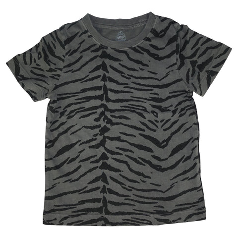 Tiger Stripe Tee- Gray - Ice Cream Castles