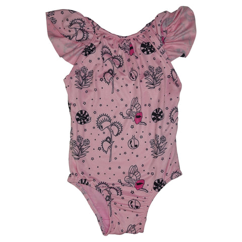 Garden Fairy Swimsuit with Ruffle Detail- Pink - Ice Cream Castles