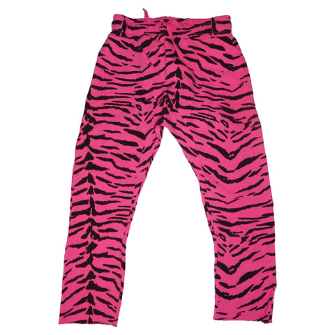 Tiger Stripe Harem Pant- Neon Pink - Ice Cream Castles Kids
