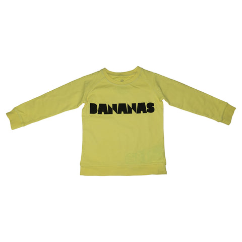 Bananas Graphic Pullover- Yellow - Ice Cream Castles