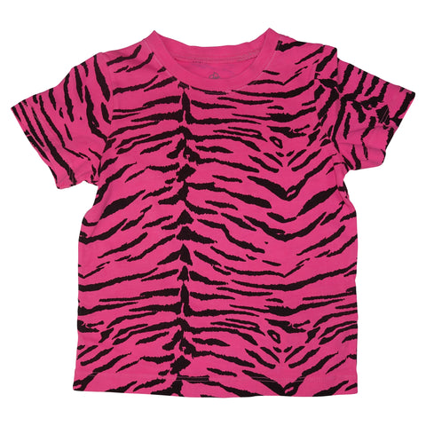 Tiger Stripe Tee- Neon Pink - Ice Cream Castles Kids
