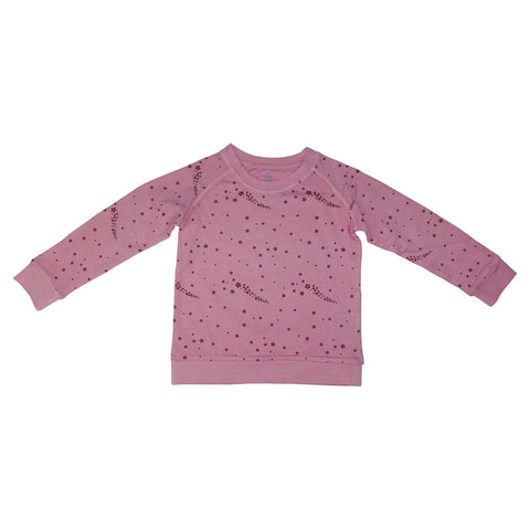 Star Print Pullover- Pink - Ice Cream Castles Kids