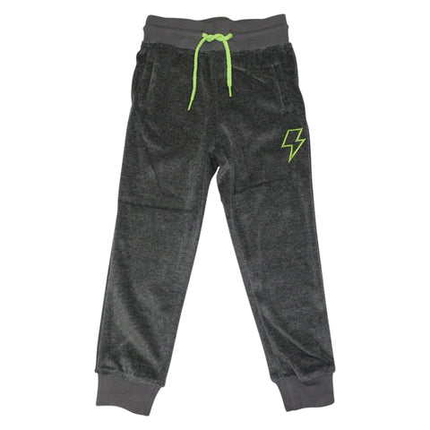 Velour Jogging Pant- Gray - Ice Cream Castles Kids