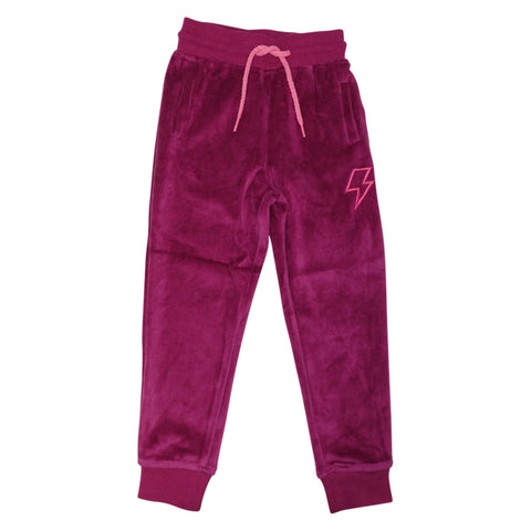 Velour Jogging Pant- Berry - Ice Cream Castles Kids