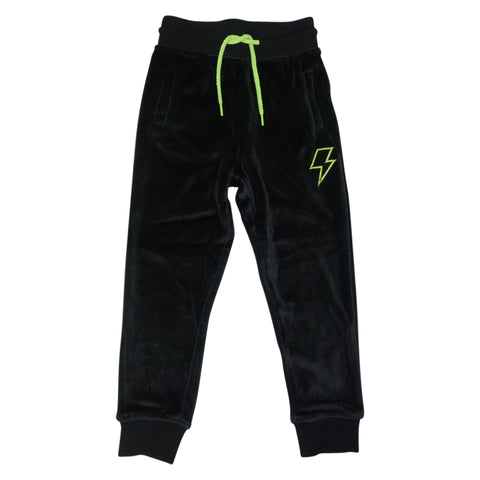 Velour Jogging Pant- Black - Ice Cream Castles Kids