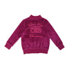 Velour Cloud City Track Jacket- Berry - Ice Cream Castles Kids