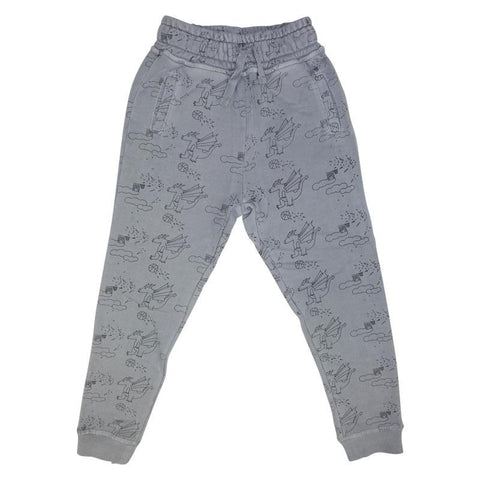 Dragon Print Jogging Pant- Gray - Ice Cream Castles