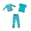 Monster Malt Joggers in Teal - Ice Cream Castles Kids