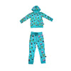 Monster Malts Zip Hoodie in Teal - Ice Cream Castles Kids