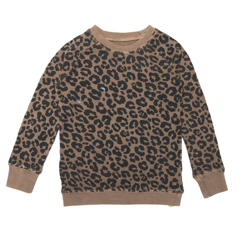 Leopard Print Thermal- Camel - Ice Cream Castles Kids