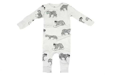 Snow Leopard Romper- White - Ice Cream Castles