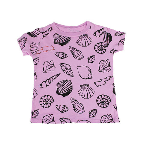 Shell Print Tee- Lavender - Ice Cream Castles