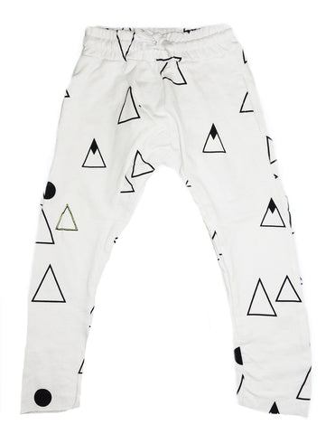 Mountain Print Harem Pant- White - Ice Cream Castles