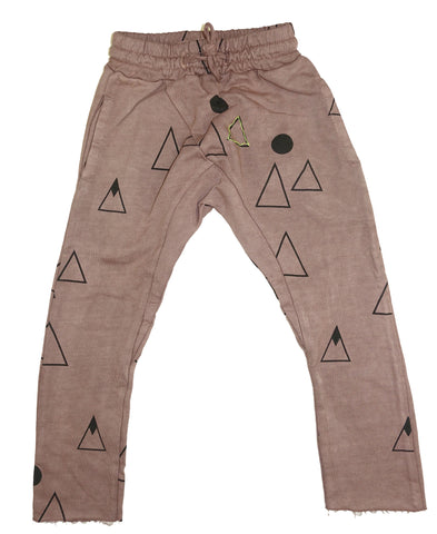 Mountain Print Harem Pant- Stone - Ice Cream Castles