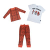 Tiger Stripe Joggers in Living Coral - Ice Cream Castles Kids