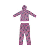Unicorn Papillon Print Joggers in Orchid - Ice Cream Castles Kids