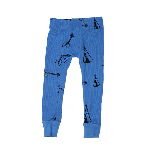 Tee Pee & Arrow Print Thermal Pant- Lake - Ice Cream Castles