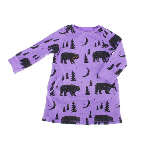 Bear & Tree Dress- Galaxy - Ice Cream Castles