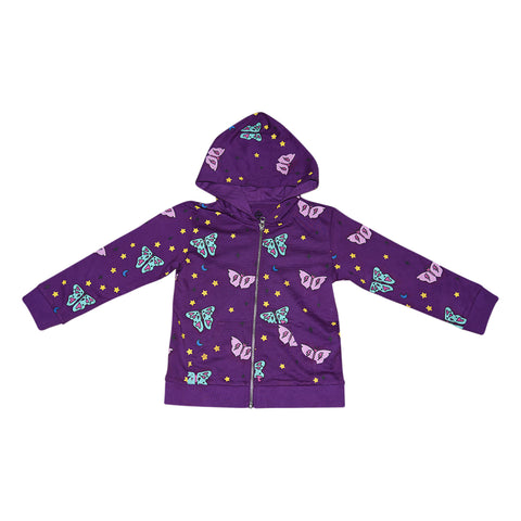 Papillon Zip Hoodie in Grape - Ice Cream Castles