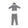 Cow Print Zip Hoodie in White - Ice Cream Castles Kids