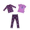 Papillon Leggings in Grape - Ice Cream Castles Kids
