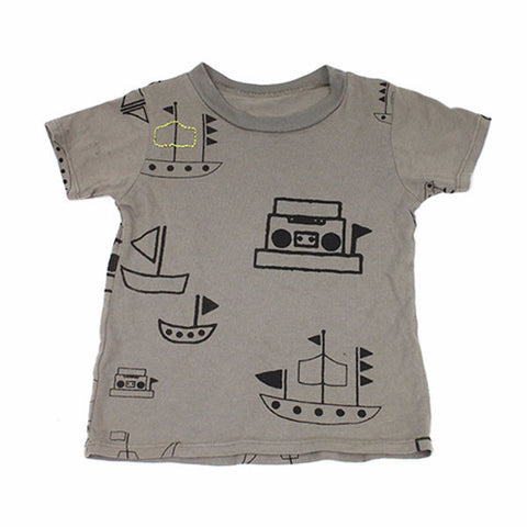 Pirate Boom Tee- Gray - Ice Cream Castles