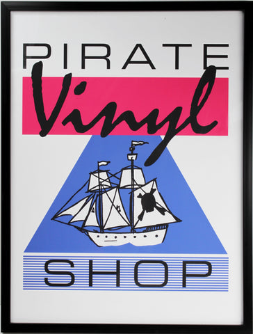 Pirates Vinyl Shop Print