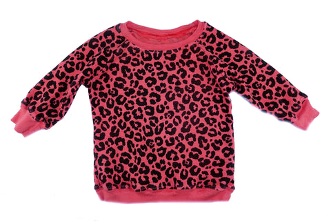 Leopard Print Thermal- Red - Ice Cream Castles Kids