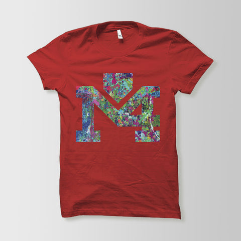 Splattered Logo Red Tee